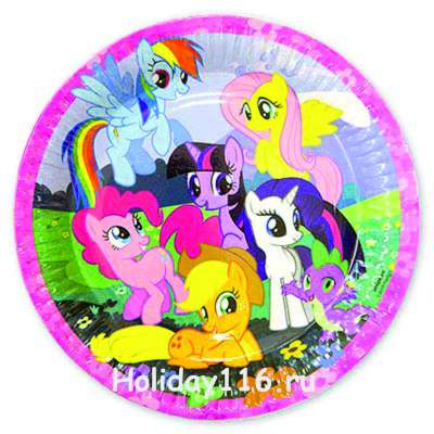 "Тарелки ""My little pony"" 23см 8шт"
