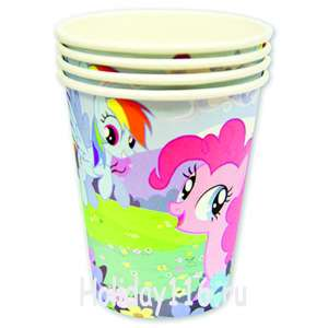 "Стаканы ""My little pony"" 250 мл 8 шт"